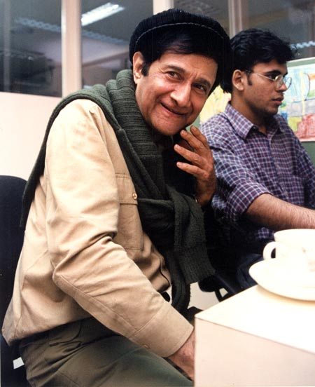 Dev Anand at Rediff's office