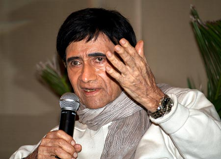 Dev Anand at the launch of Chargesheet