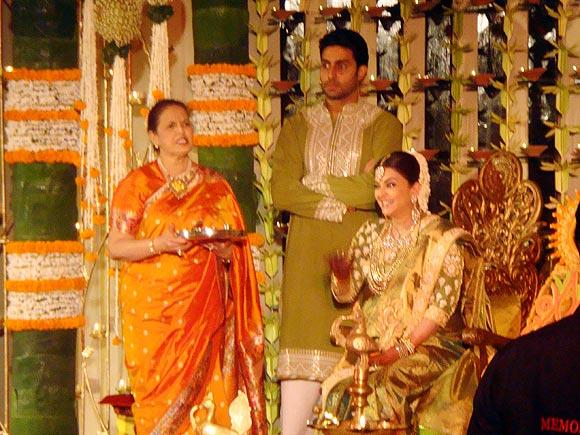 Vrinda Rai, Abhishek Bachchan and Aishwarya Rai Bachchan