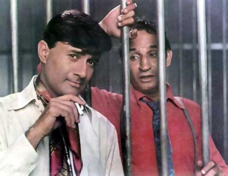 Dev Anand with costar Jeevan