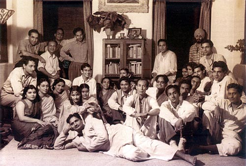 One of the gatherings at Dev Anand's residence 41, Pali Hill, in 1950, full of luminaries