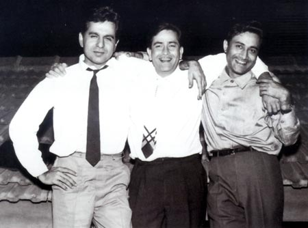 The three pillars of the industry: Dilip Kumar, Raj Kapoor and Dev Anand