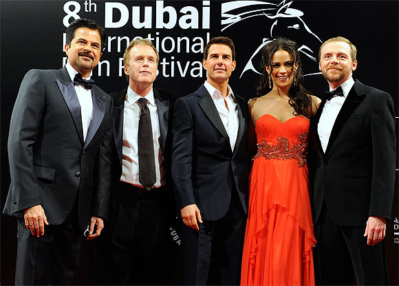 Anil Kapoor, Brad Bird, Tom Cruise, Paula Patton and Simon Pegg