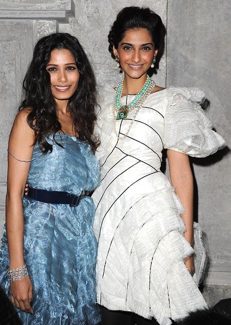 Freida Pinto and Sonam Kapoor