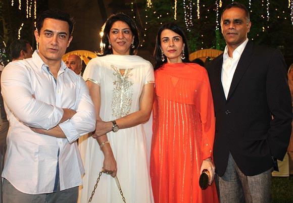 Aamir Khan, Priya Dutt, Namrata Dutt and Owen Roncon