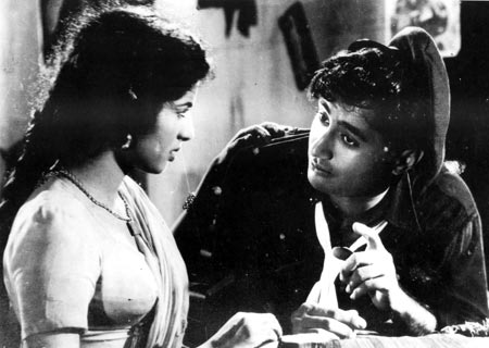 Kalpana Kartik and Dev Anand in Taxi Driver