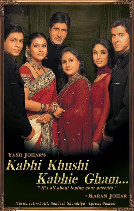 Movie poster of Kabhi Khushi Kabhie Gham
