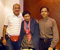 Sam Dahliwal, Dev Anand and Suneil Anand
