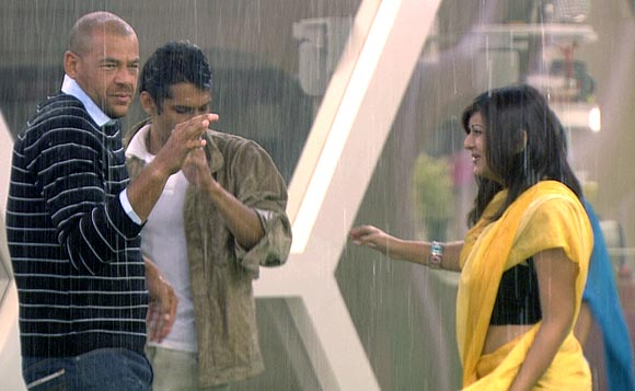 Rain dance on Bigg Boss