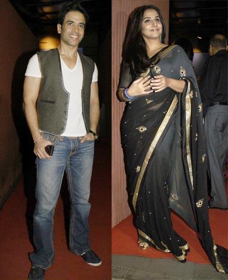 Tusshar Kapoor and Vidya Balan