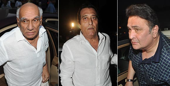 Yash Chopra, Vinod Khanna, Rishi Kapoor