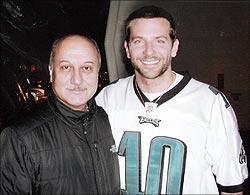 Anupam Kher and Bradley Cooper