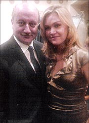 Anupam Kher and Julia Stiles