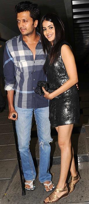 Riteish Deshmukh and Genelia D'Souza
