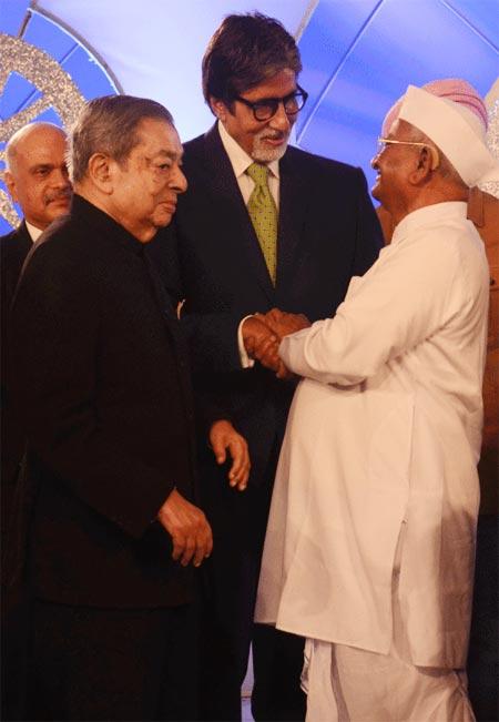 Dr.Verghese Kurien, Amitabh Bachchan and Anna Hazare