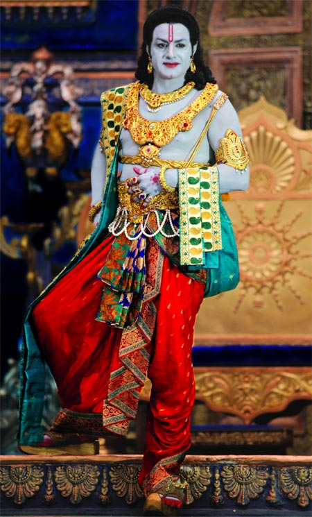 A scene from Sriramarajyam