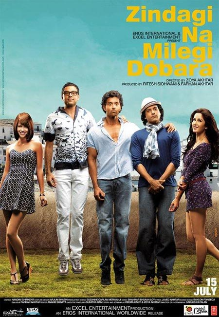 Movie poster of Zindagi Na Milegi Dobara