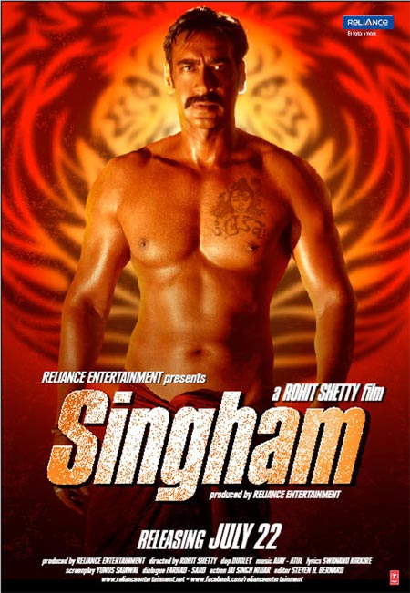 Movie poster of Singham