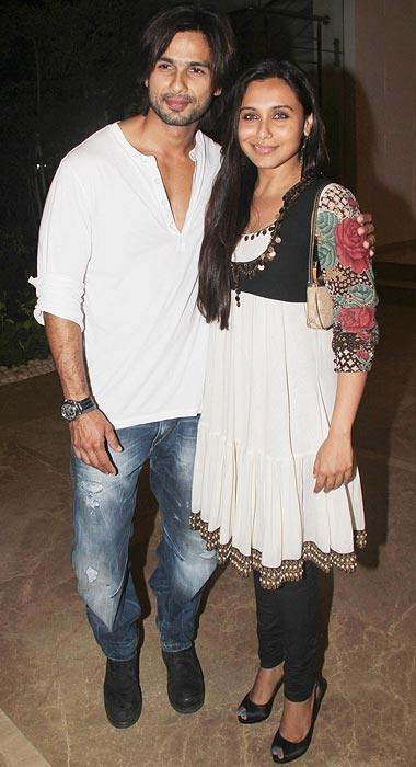 Shahid Kapoor and Rani Mukerji