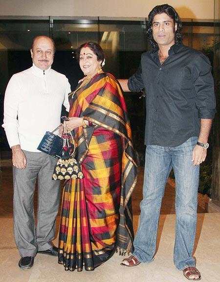 Anupam Kher, Kirron Kher and Sikandar