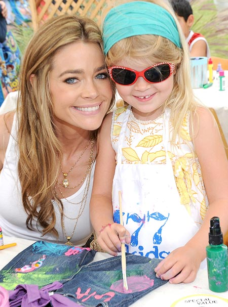 Denise Richards with daughter Lola Sheen