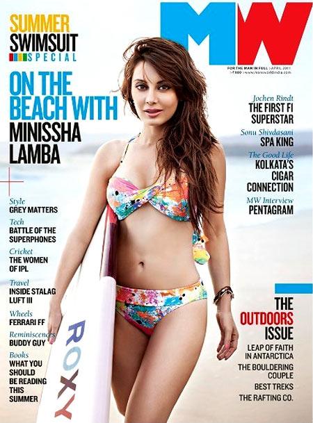 Minissha Lamba on Man's World cover