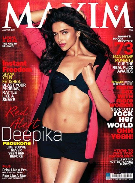 Deepika Padukone on Maxim cover
