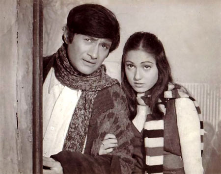 Dev Anand, Tina Munim in Des Pardes
