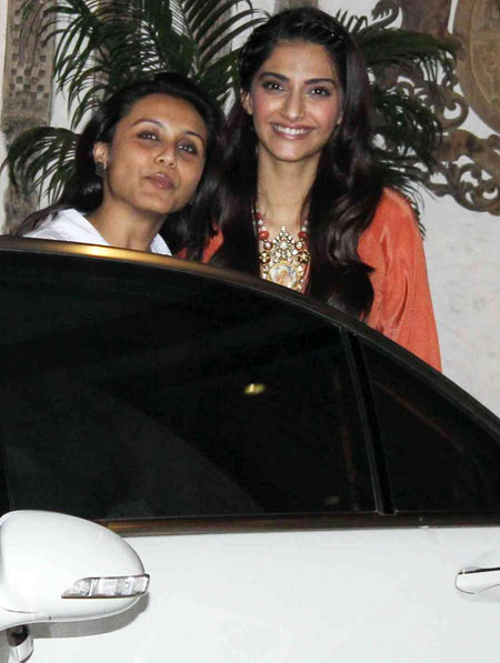 Rani Mukerji and Sonam Kapoor