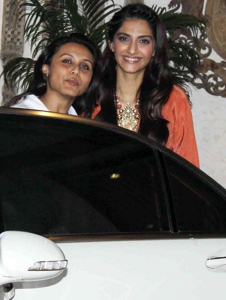 Rani Mukerji and Sonam Kapoor