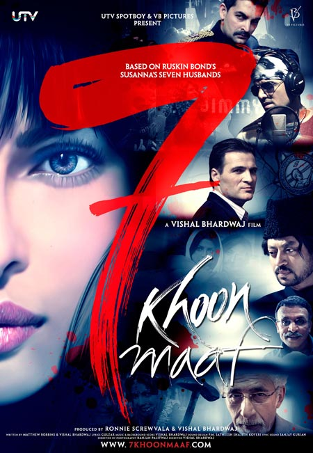 Movie poster of 7 Khoon Maaf
