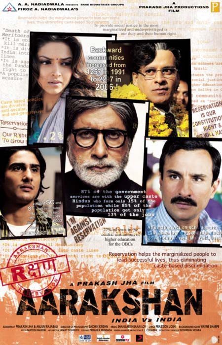 Movie poster of Aarakshan