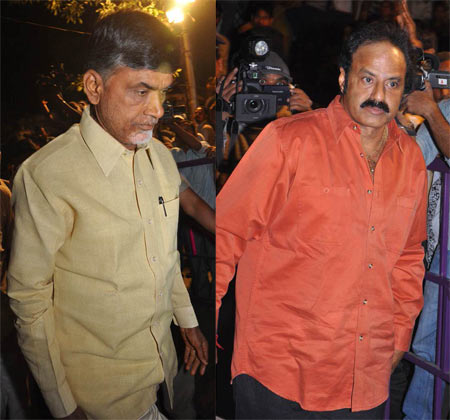 Former Chief Minister Nara Chandrababu Naidu and Nandamuri Balakrishna