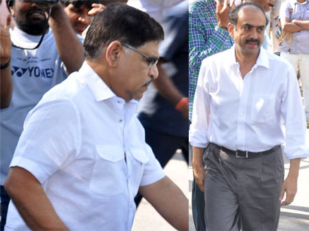 Allu Aravind and D Suresh Babu