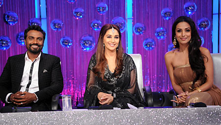 Remo D'Souza, Madhuri Dixit and Malaika Arora Khan