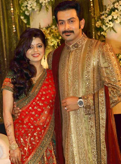 Supriya Menon and Prithviraj