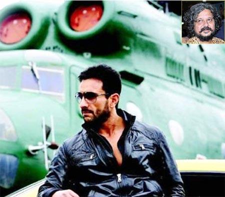Saif Ali Khan in Agent Vinod. Inset: Amol Gupte
