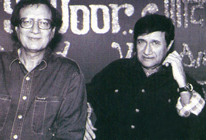 Vijay Anand and Dev Anand at a event
