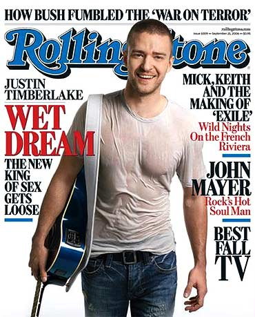 Justin Timberlake on the cover of Rolling Stone