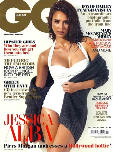 Jessica Alba on the cover of GQ