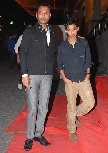 Irrfan Khan with his son