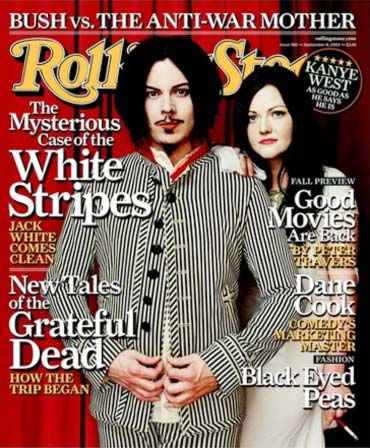 Jack and Meg White on the cover of Rolling Stone