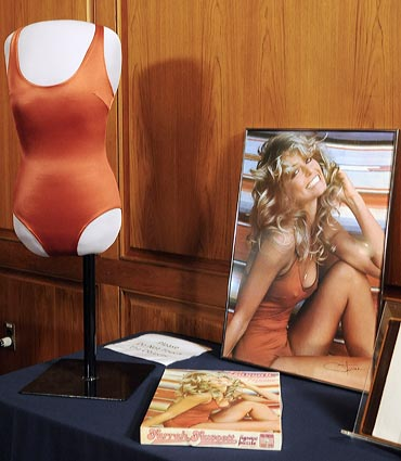 The famous red swimsuit is seen in this photograph released by the National Museum of American History in Washington