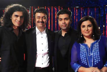 Imtiaz Ali,Rajkumar Hirani, Karan Johar and Farah Khan on Koffee with Karan