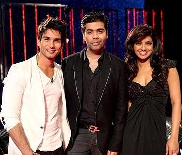 Shahid Kapoor, Karan Johar and Priyanka Chopra