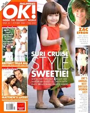 Suri Cruise on the cover of Hello magazine