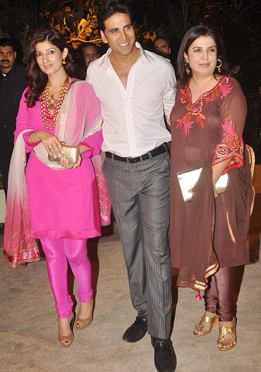 Twinkle Khanna , Akshay Kumar and Farah Khan
