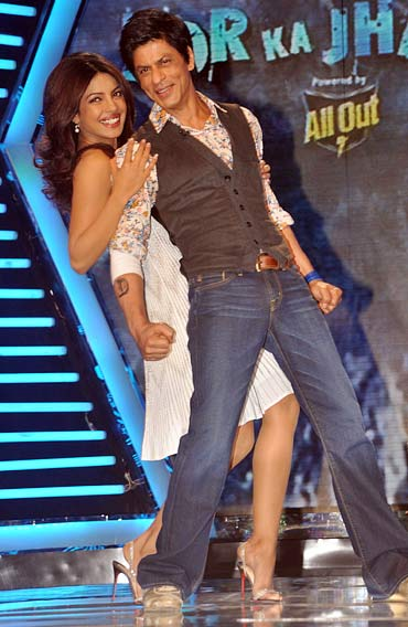 Priyanka Chopra and Shah Rukh Khan