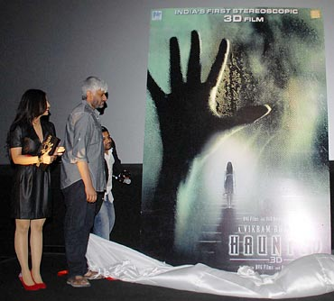 Vikram Bhatt unveils the poster of Haunted