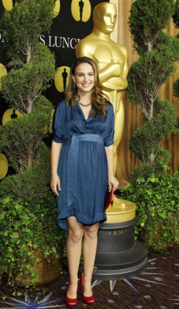 Natalie Portman arrives at the nominees luncheon for the 83rd annual Academy Awards in Beverly Hills